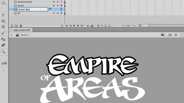 How to Draw a Logo using Adobe Animate Video Tutorial 2