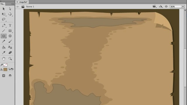 How to Draw a Cartoon Map in Adobe Animate video tutorials 1
