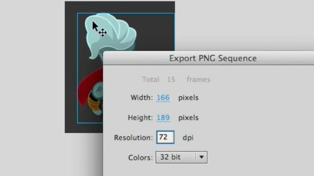 How to Export PNG sequences from Adobe Animate
