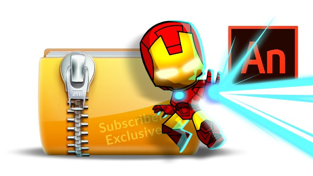 How to Draw a Chibi style Iron Man in Adobe Animate