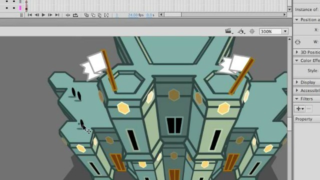 How to Draw a Game Art Castle with Adobe Animate or Flash
