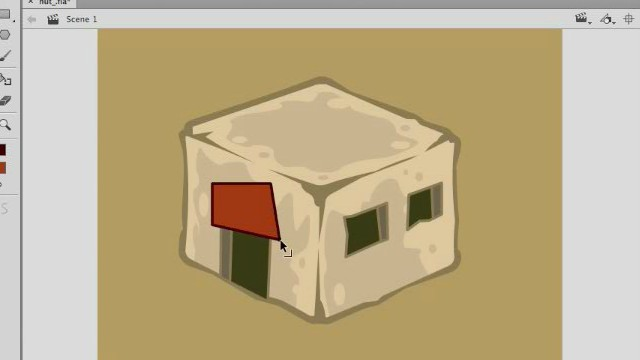 How to Draw a Isometric Buildings with Adobe Animate or Flash