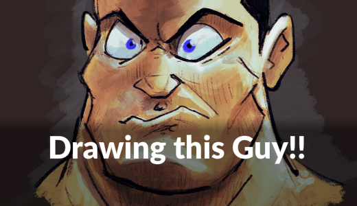 How to Draw an Angry Muscular Guy - Video tutorial