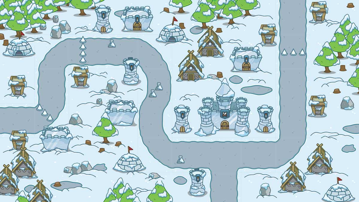 Snowy Top Down Level Set Royalty Free