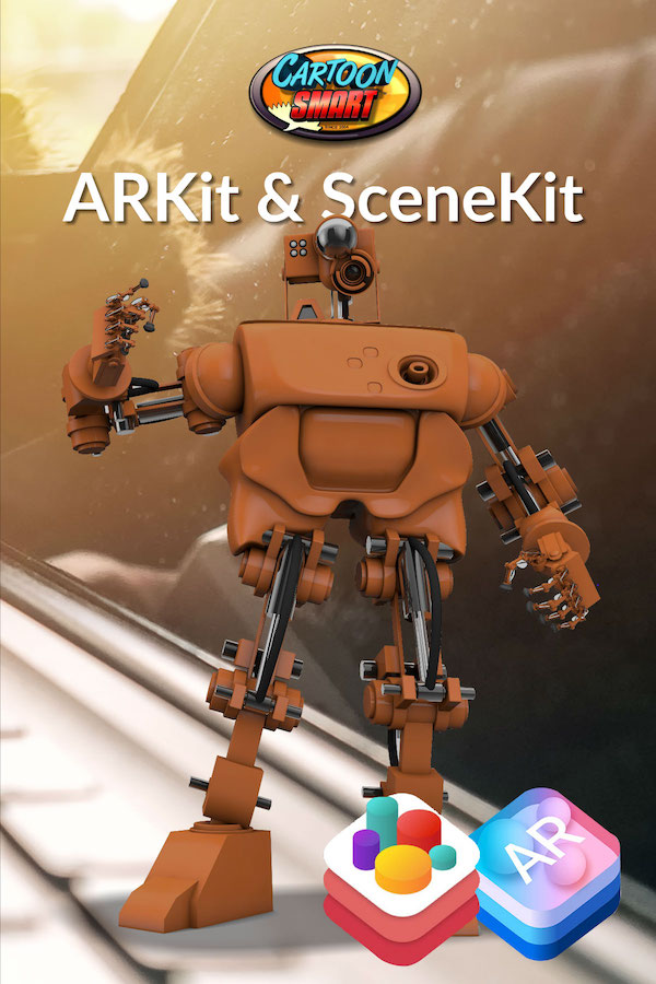 ARKit and SceneKit Video Tutorials with Swift 4 and Xcode 9