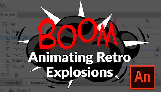 How to Animate Retro Explosions in Adobe Animate