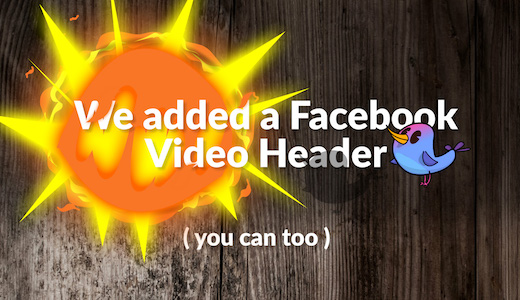 How to make an animate video header for their Facebook Page