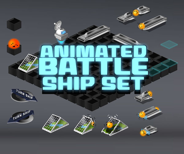 BattleShip Set Royalty Free Game Art