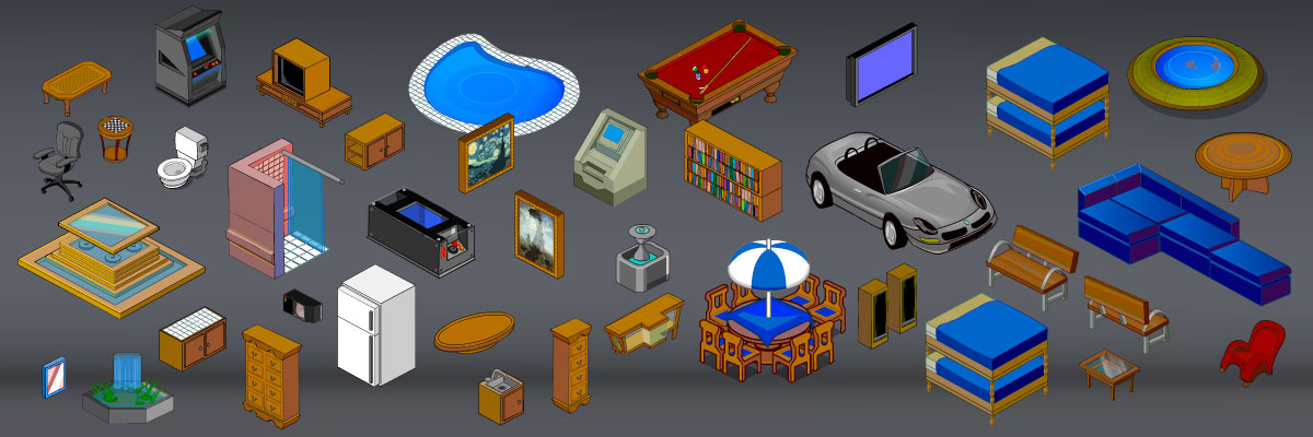 Isometric Furniture Royalty Free Game Art