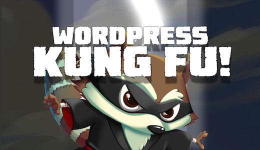 Wordpress Kung Fu Video tutorials 2018