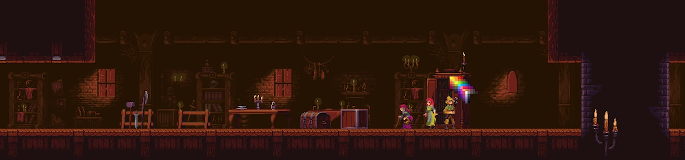 Gothic Pixel Art Interiors royalty free game art
