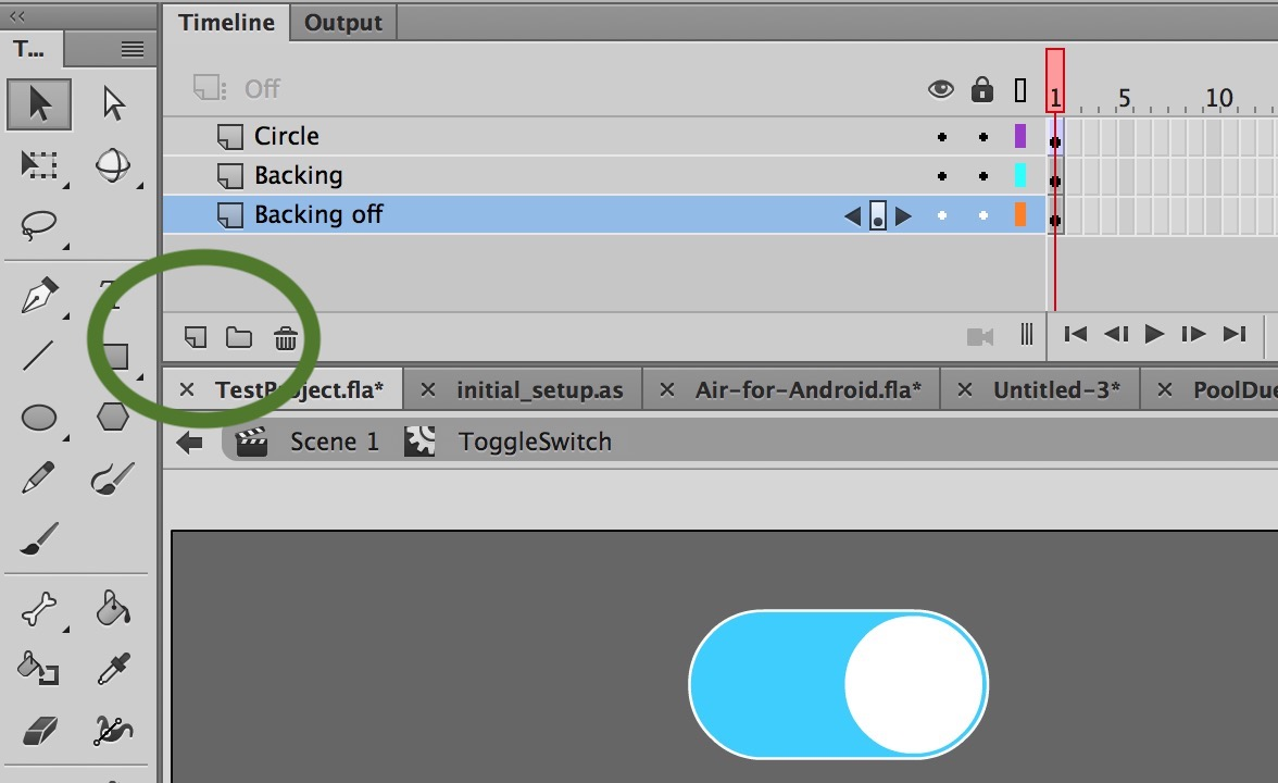 Toggle Switch in Adobe Animate CC