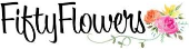 Fifty Flowers store logo