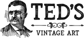 Ted's Vintage Art store logo