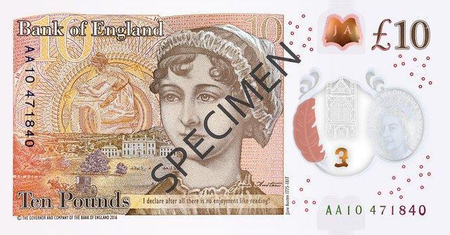 bank of england new tenner austen large