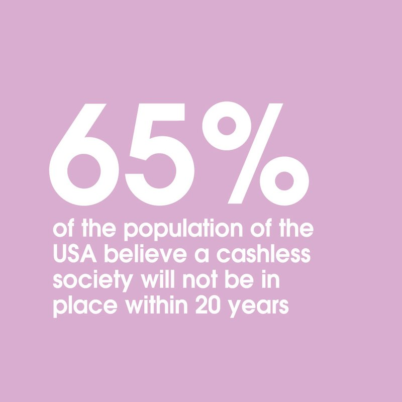 65 americans don't believe in cashless 2037