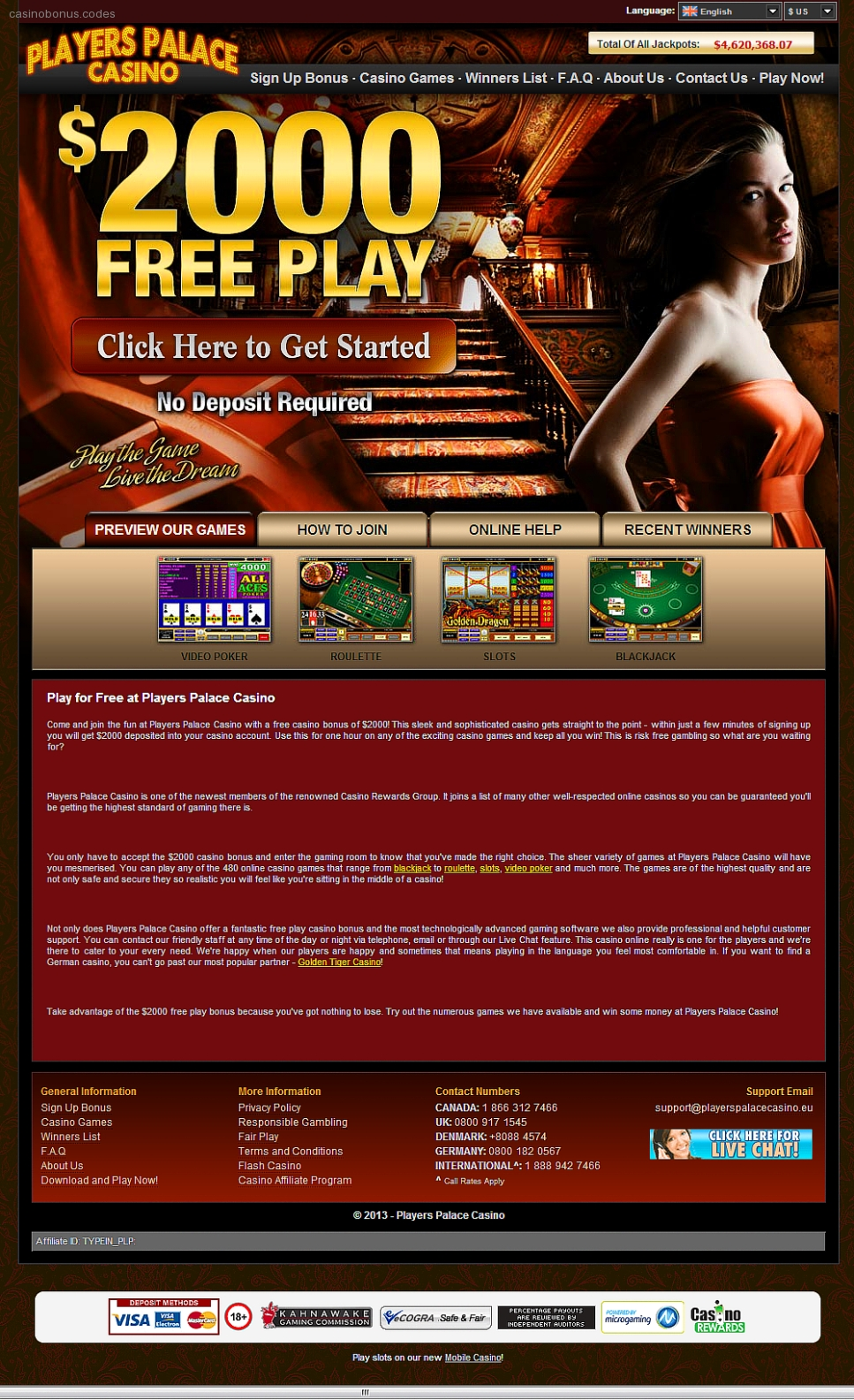 No Deposit Casino Bonus Codes Usa Players « Online Casinos
