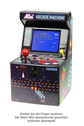 Retro Mini Spielautomat mit Bildschirm und über 240 Games!