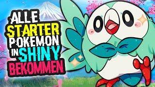 Alle Starter Pokemon In Shiny bekommen !! | Flamiau & Bauz