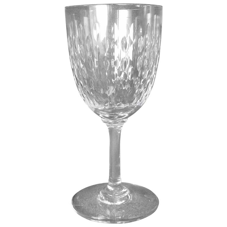 "Baccarat Crystal Paris ""Cut"" Pattern Tall Water Goblet at"