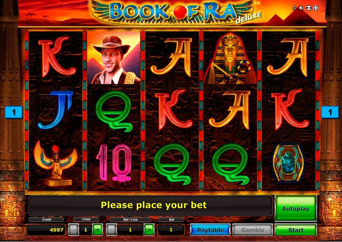 Book of Ra Deluxe Slot Machine (Novomatic) to Play Free