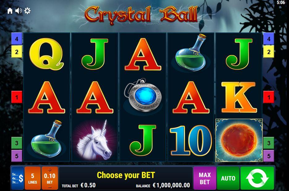 Crystal Ball Slot von Bally Wulff mit Echtgeld online spielen