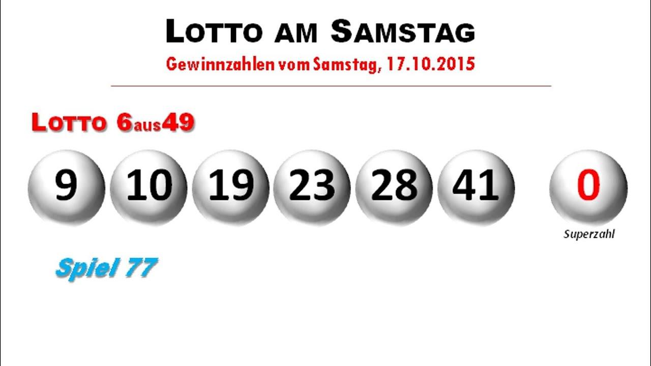 Deutschland Live News: lottozahlen samstag