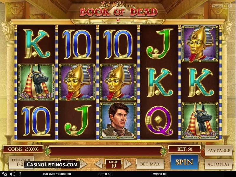 Free Book of Dead slot machine | Casino Listings free games