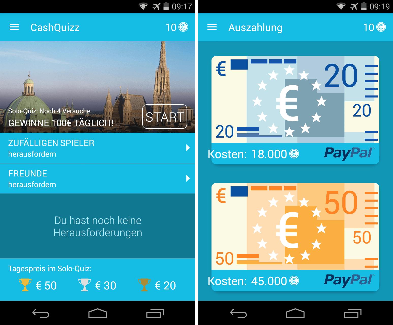 geld in app gewinnen 12 fragen beantworten