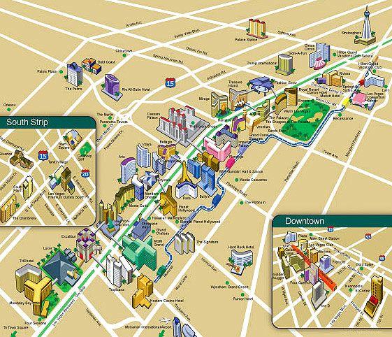 Las Vegas Strip Karte | goudenelftal