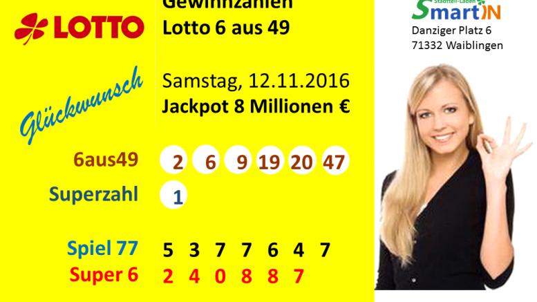 Lottozahlen Heute Samstag 6 Aus 49 2019
