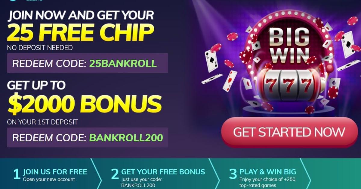 online casino bonus codes 2018 australia