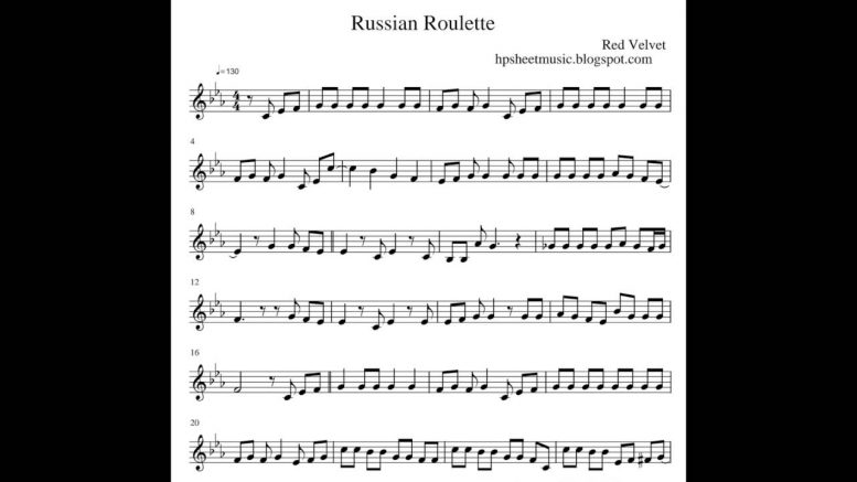 🥇🥈🥉 Russian Roulette Chords Red Velvet [2019] 🤑