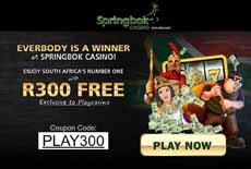 Springbok Casino - Recommended | R300 Free No Deposit Bonus