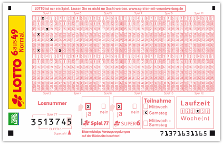 Superzahl auf dem LOTTO Schein finden mit Lotto-Lotto-Lotto.de