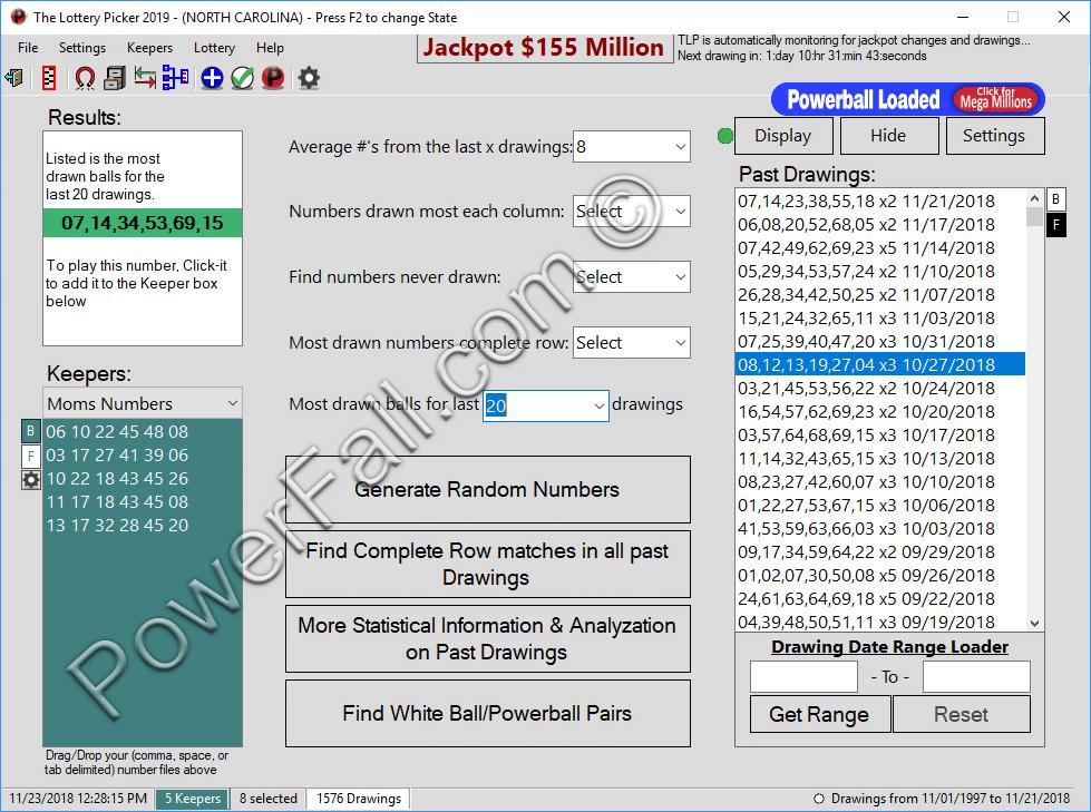 The Lottery Picker™ 2018, Powerball & Mega Millions Software