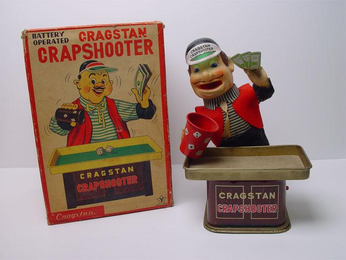Vintage Cragstan Yonezawa Crapshooter Japan Battery Toy | eBay
