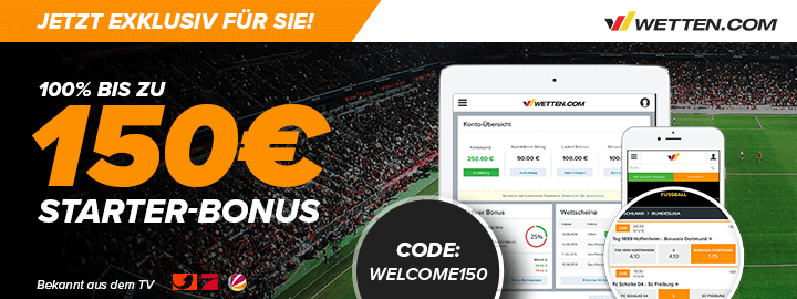 Wetten.com Bonus Code Mai   2019 » 3 Codes verfügbar