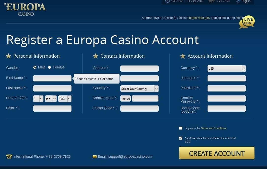 Europa casino no deposit bonus code - Dismaff Atacadista e
