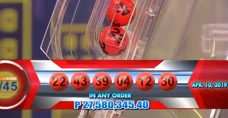 Lotto Results for April 10, 2019 – 6/55 & 6/45 Draws (P111
