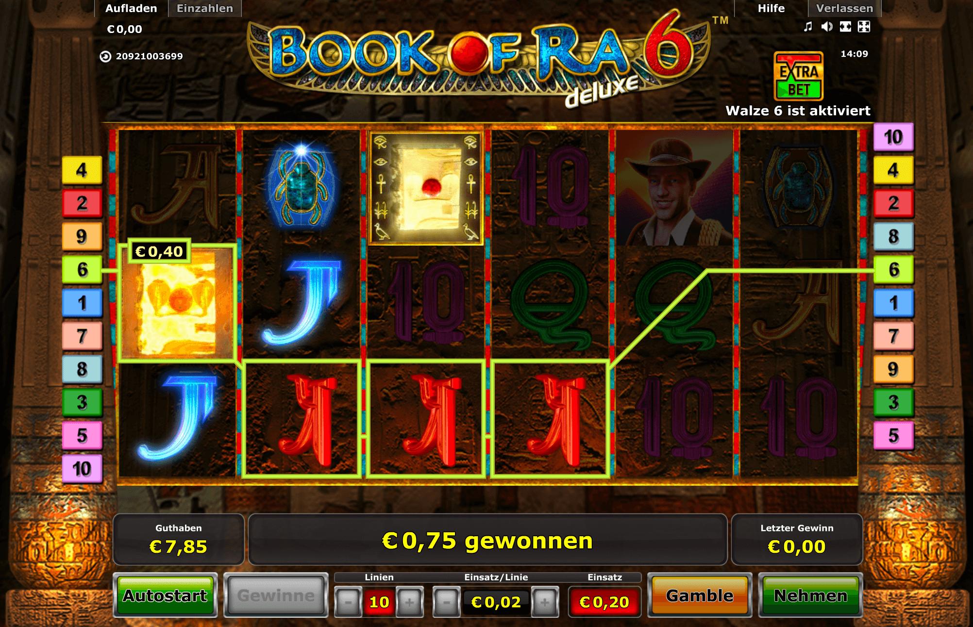 Book of Ra online spielen & 250€ Bonus geschenkt oder