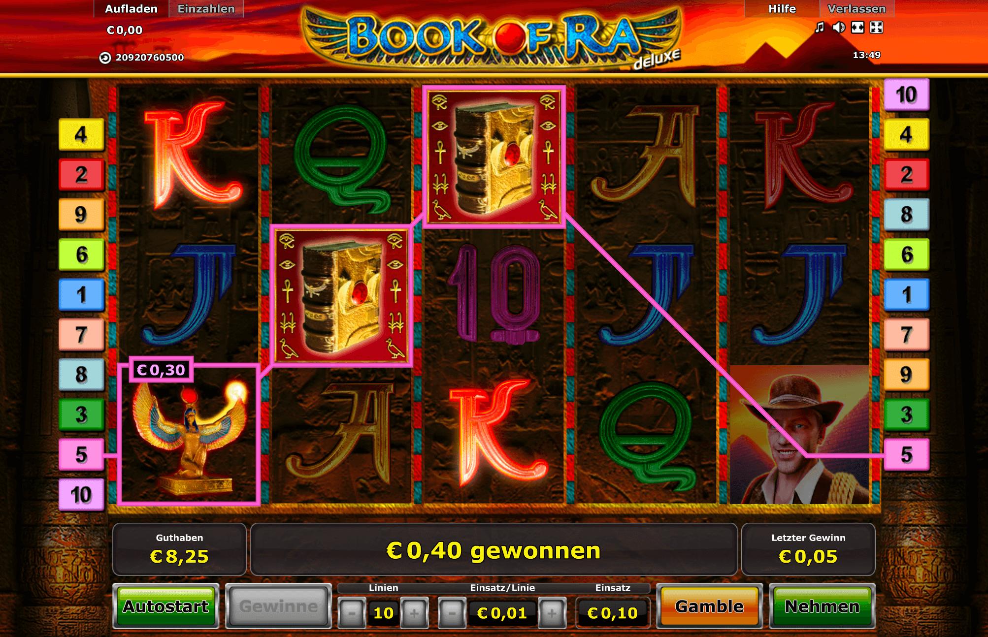 Book of Ra Deluxe Casino Online Spielen