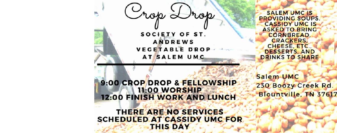 Crop Drop Sunday with Salem UMC