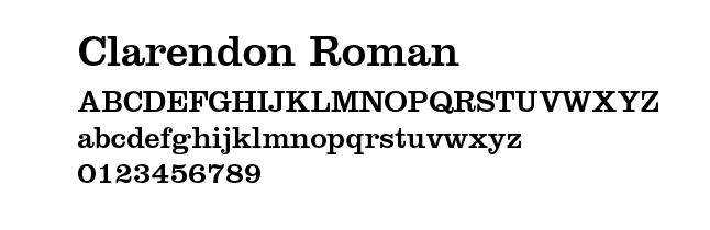 Clarendon Roman typeface