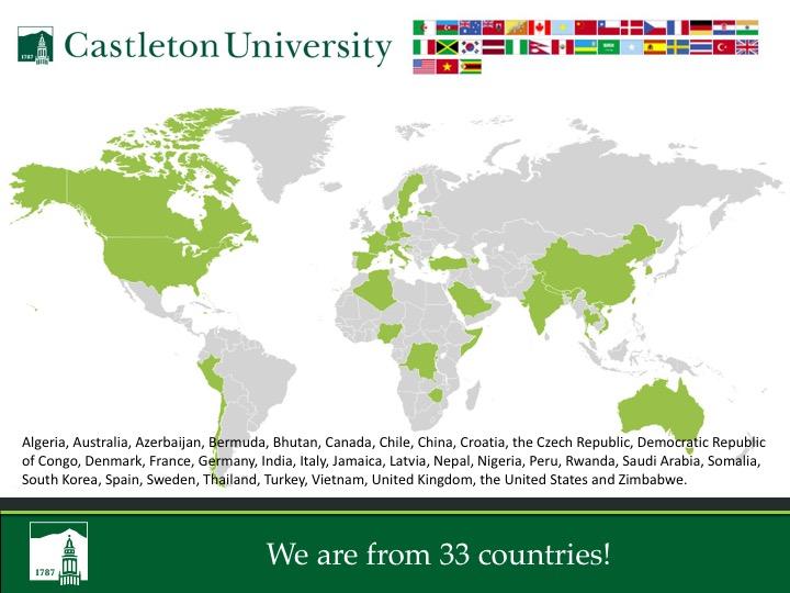 Open Arms Castleton University - Sweden map universities