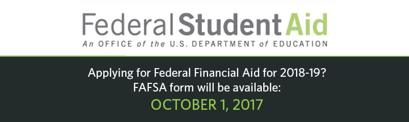 FAFSA form available 10/1/16