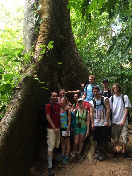 Castleton science students in Costa Rica