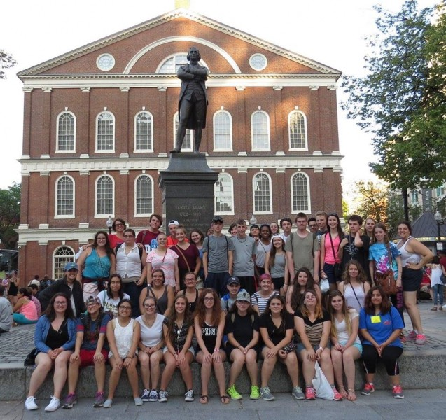 Group Shot of Upward Bound on Summer Trip to Boston