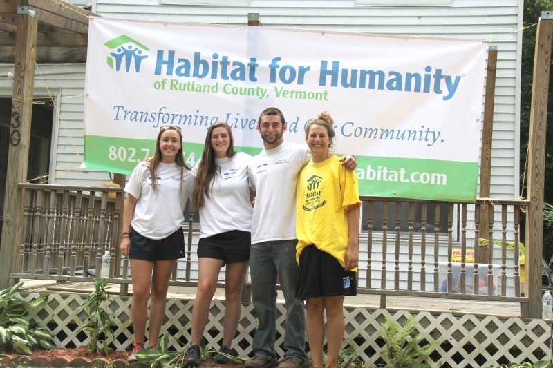 CU Students at Habitat for Humanity