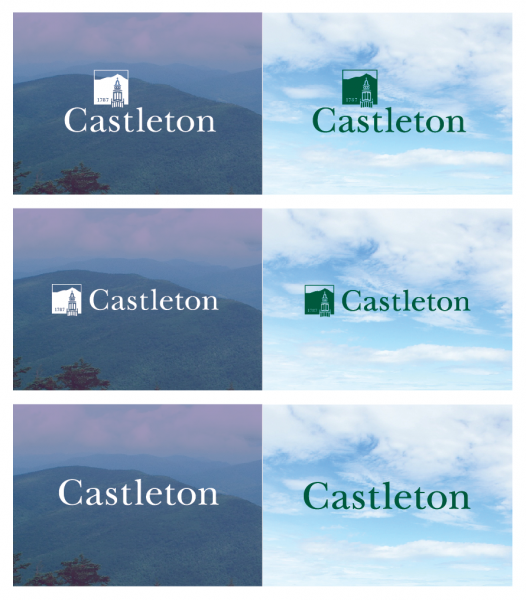 Using Castleton's wordmark on an image